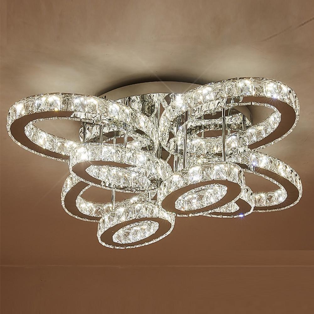 Design moderno grande lampadario di cristallo HA CONDOTTO LA luce AC110V 220 v lustro LED di fissaggio a soffitto foyer luci