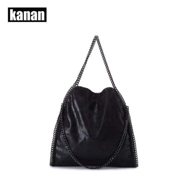 KANAN 2015 new fashion women leather handbag portable shoulder chain sequins woman bag ladies bolsa feminina carteras mujer K904