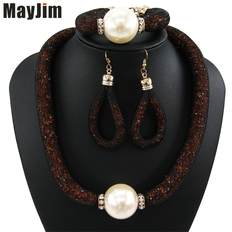 MayJim Fashion Women 2018 perlové šperky soupravy Vintage velká - Bižuterie - Fotografie 1