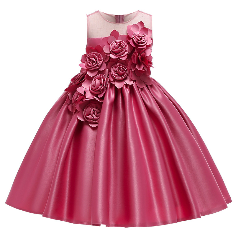 HTB1moQubdfvK1RjSspfq6zzXFXan Kids Dresses For Girls Elegant Princess Dress Christmas Children Evening Party Dress Flower Girl Wedding Gown vestido infantil