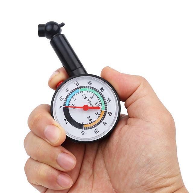 Verificador da pressão de ar da roda do medidor de discagem do medidor de pressão dos pneus 0 50 psi para o caminhão do carro do motor automático