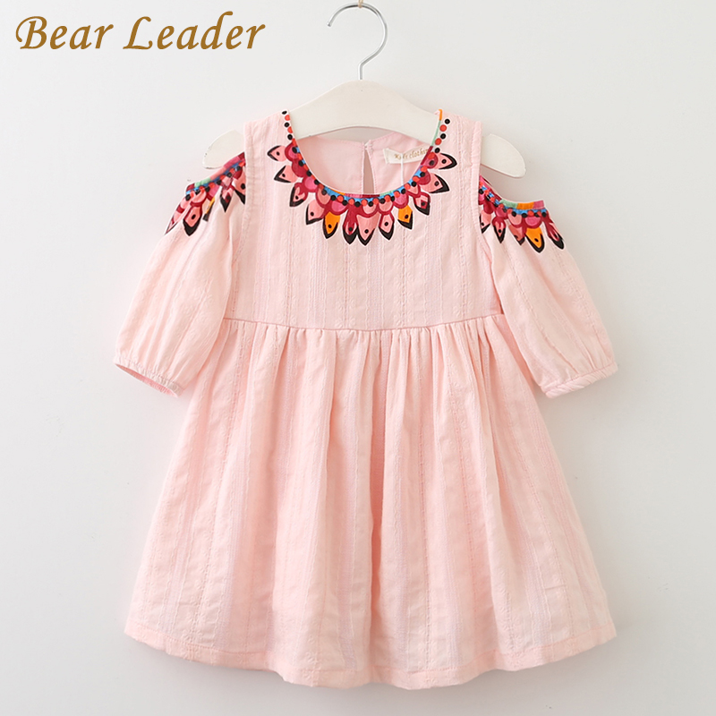 Bear Leader Girls Dress 2017 Summer Style Princess Dress Children Clothing  Half Sleeves Casual pattern Design for Girls Clothes bear leader girls dress 2016 new summer style party dress stella the swallow embroidered sleeveless dress girls princess dress