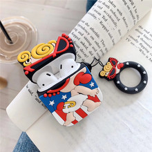 Cartoon Pacifier Girl For Airpod Case Cover Cute Soft Silicone Airpods 2 Wireless Earphone i60 i80 tws Protector