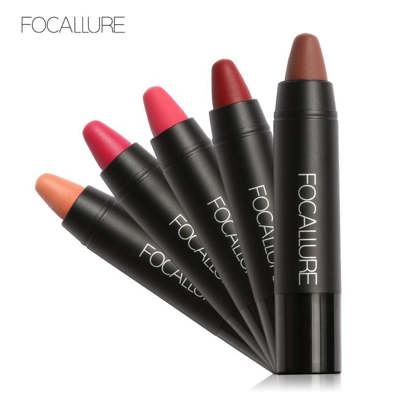FOCALLURE 19 Colors Lip Stick Moisturizer Sexy Lipstick Waterproof Long-lasting Easy to Wear Nude Makeup Labial Lipsticks Z3