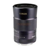 25 мм F0.95 большой апертурой ручная фокусировка объектива для APS C Canon EOSM nikon1 sony a6000 a6300 m43 Fuji FX XT1 Крепление камеры