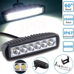 metal LED bar 18W 12 V Offroad Car motorbike motorcycle headlight headlamp light front head Working Fog Lamp spotlight spot
