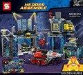 DC comics super heroes cena clássica A Batcaverna building block legoe Bane Batman Robin Poison Ivy compatível 6860