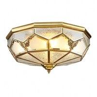 Cobre Luzes de Teto lâmpadas led estilo Nórdico lamparas levou luzes para casa Simples E27 Lâmpada sala luzes do quarto de Vidro|Luzes de teto| |  -