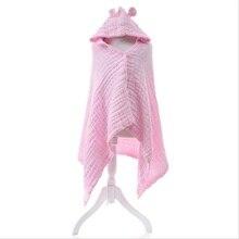 Муслиновый хлопковый детский банный халат с капюшоном, банное полотенце, мягкое детское Хлопковое одеяло, впитывающее, высыхающее, пляжное полотенце, мочалка