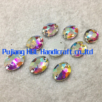 180pcs/lot  11X16MM Glass Sew on Crystals Stone Rhinestone With 2 Holes Sewing Flat Back Stones Crystal Diamond For sale
