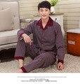 Nova Premium 100% Algodão dos homens Sleepwear Conjunto Pijama Roupa Em Casa pijamas para homem disfraz durmiente bella 095