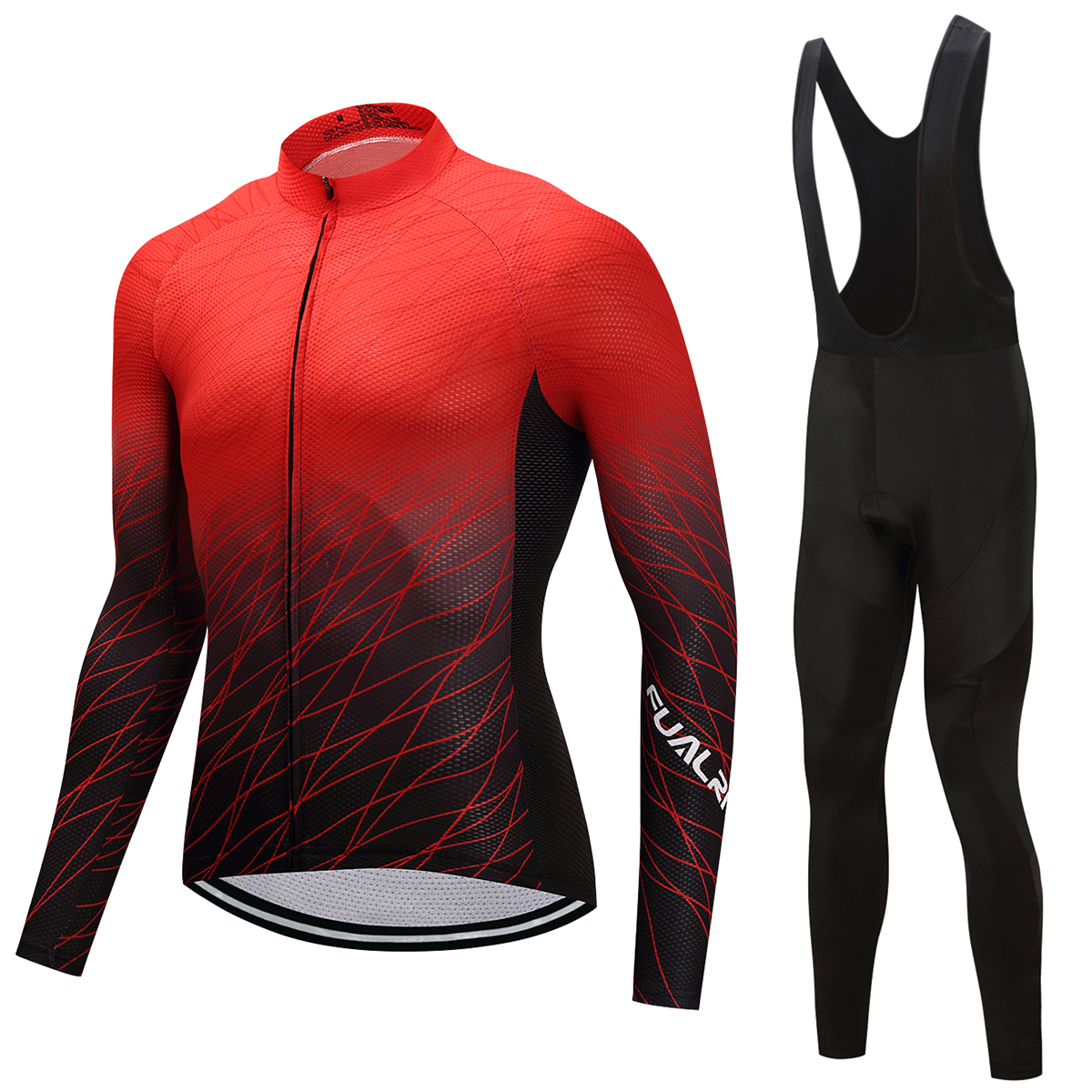 FUALRNY Winter thermal fleece cycling jersey 2018 pro team ropa ciclismo  hombre invierno men cycling clothing mtb bike clothes 18da1859b
