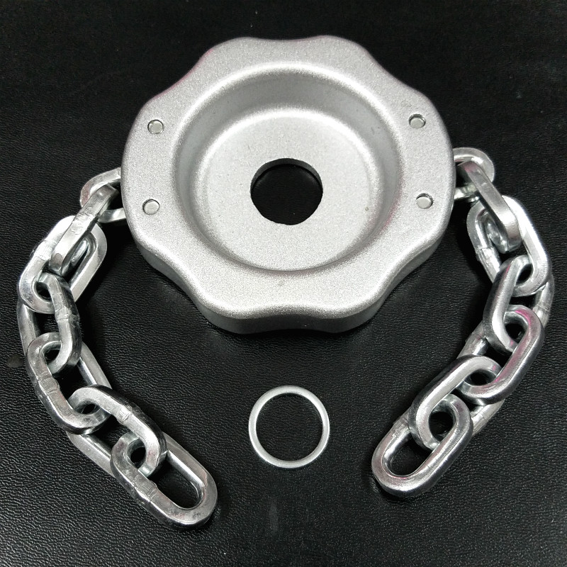 NEW Grass Metal Chain Trimmer Head Aluminium Alloy Strimmer Chain Brush Cutter Trimmer Head with Thickening Chains