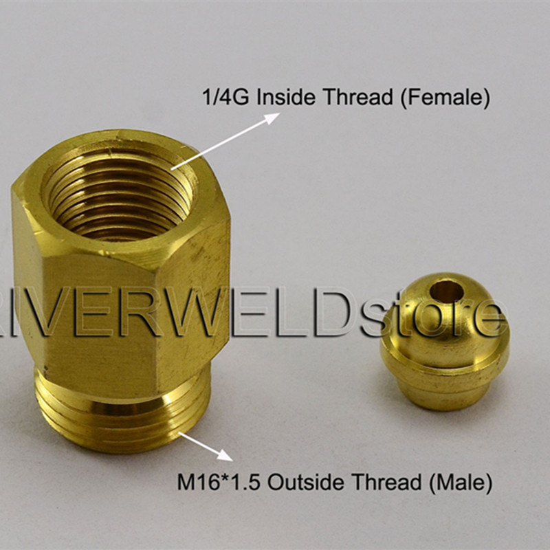 TIG Welding Torch Connector Cable Joint Change 1/4G TO M16*1.5