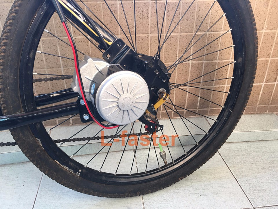 electric bike left side drive installation -1-a