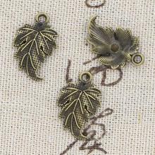 15 sztuk Charms liść drzewa 20x12mm Antique Making wisiorek fit w stylu Vintage tybetański brąz srebrny kolor ręcznie robiona biżuteria DIY tanie tanio hroryn CN (pochodzenie) Ze stopu cynku Other Moda like photo Metal TRENDY