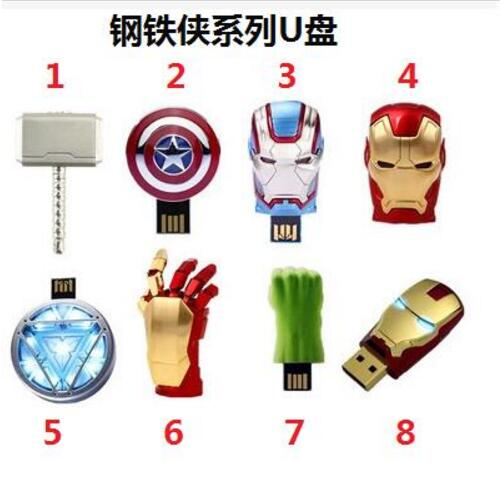 Image 3 - Hot super Avengers USB 2.0 Flash Drive Pen Drive Iron Man America Captain Hammer Hulk USB Flash Memory Stick 8GB 16GB 32GB 64GB-in USB Flash Drives from Computer & Office