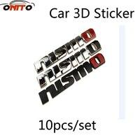 Wholesale 10pcs Boot Metal 3D Car Sticker Auto Emblem Chrome Badge Sticker Car 3D Sticker