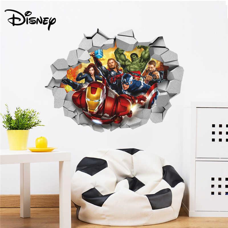 3D super-herói Homem-Aranha Adesivo De Parede removível mural Decalque Kid Quarto Art Decor