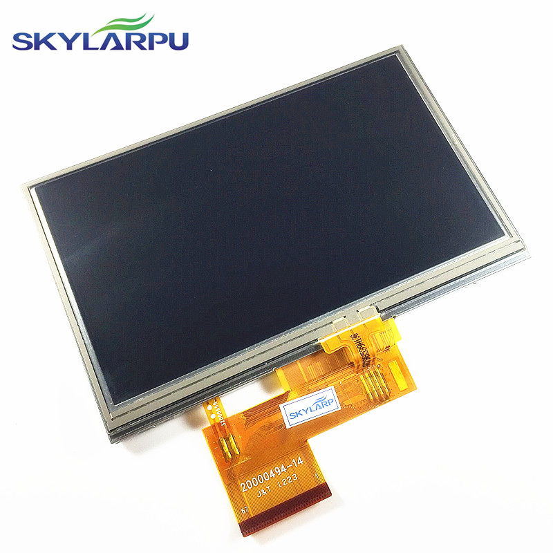 цена skylarpu New 4.3-inch LCD screen for GARMIN Zumo 390 LM 390LM GPS LCD display screen with Touch screen digitizer Free shipping