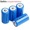 Sofirn перезаряжаемая 18350 батарея литиевая батарея 3 7 V 850mah ICR 18350 батарея аккумуляторные батареи Кнопка Топ или плоский верх