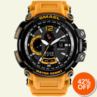 Waterproof Military Watches Genuine SMAEL Watch Men Digital LED Sports Watch S Shock Resist Army Watch1702