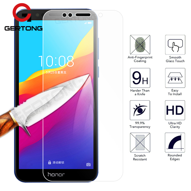Tempered Glass Screen Protector For Huawei Y6 Y5 Y7 Prime 2018 Honor 7A 7C 8 9 Lite Transparent Cover Front Film