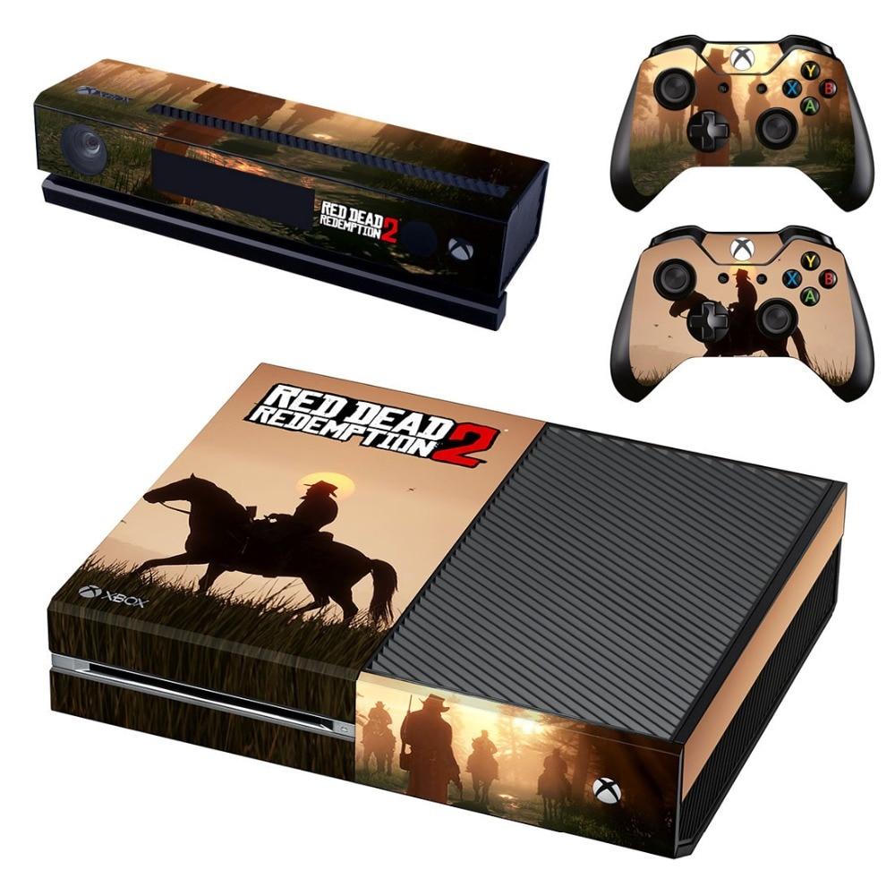 RED DEAD REDEMPTION 2 Vinile Autoadesivi Della Decalcomania Della Copertura Della Pelle Per Xbox One Console & Kinect & 2 Controller