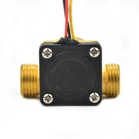 G1/2 DC5V חיישני זרימת מחמם מים גז דלק נוזלי 1-30L/min הול flowmeter מכונה שליטת מים נחושת משלוח חינם