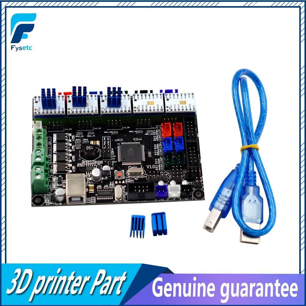 Gen-L V1.0 Intégré Carte Mère Gen L v1.0 Avec 5 pcs TMC2208 V1.2 Pilotes Pas À Pas Pour Tarantula et Tornado 3D Imprimante