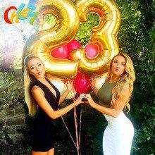 """Ballon gonflable à air flottant avec chiffres Eid Mubarak, pour fête danniversaire et mariage, 3 tailles 16 """"/32""""/40 """", 1 pièce"""