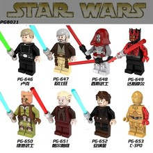 480pcs/lot StarWars Palpatine Sith warrior Darth Maul C3PO Obi Wan Minifigures Building Block Compatible Legoe Bricks Toy