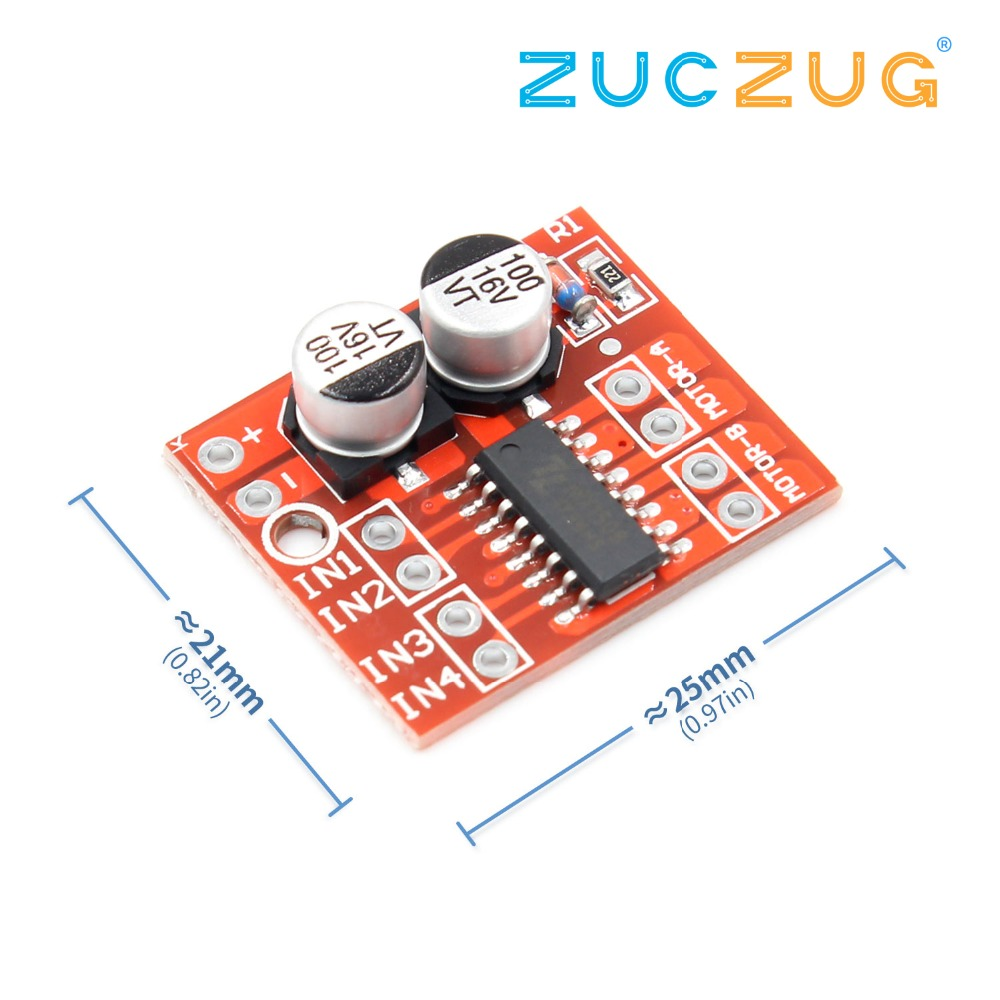 2-channel DC Motor Driving Module Positive Inversion PWM Speed Mini Motor Dual H-bridge Stepper Motor Driver