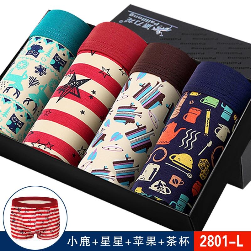 2019 New Brand Shorts Mens 4Pcs\lot Underwear Soft Men Boxers  Solid Boxer Shorts Plus Size Boxers Mens Underwear