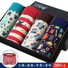 2019 New brand Shorts Mens 4Pcs\lot Underwear Soft Men Boxers Solid Box