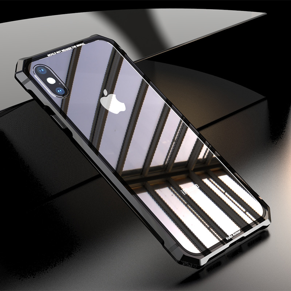 Tempered Glass Phone Cases For iPhone X 10 Shockproof Metal 9H HD Fitted Back Cover Capa Fundas For iPhone X Accessories SG34