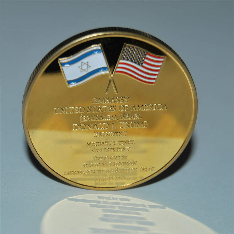 United States Embassy Jerusalem Israel Challenge Coin - Dedicated May 14, 2018 (8)
