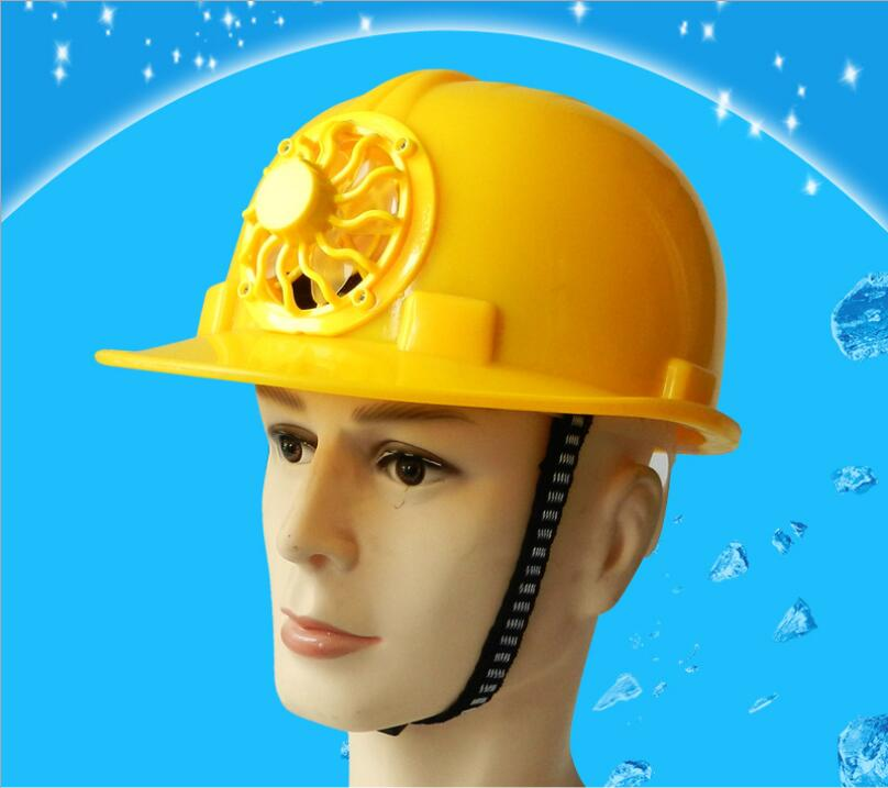Solar fan hat sunscreen cooling site construction helmet engineering cap with fan protection anti-mite helmet bump cap work safety helmet summer breathable security anti impact lightweight helmets fashion casual sunscreen protective hat