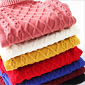 Nuevo Unisex invierno infantiles otoño suéter niña niña suéter suéter de cuello de tortuga bebé prendas de vestir exteriores