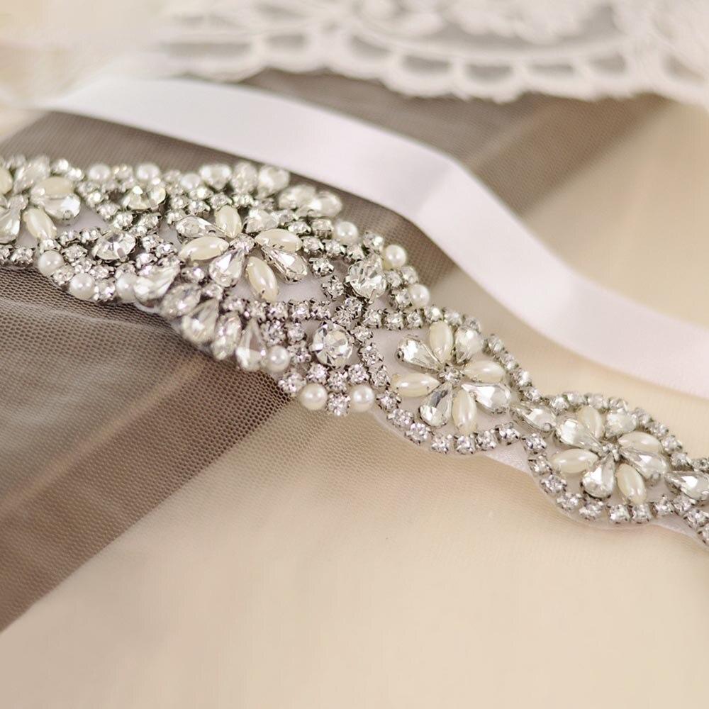 2019 New Wedding Dresses Belts Rhinestone Crystal Belts Bridal Gowns Belts Dresses Accessories  Beading Decorations