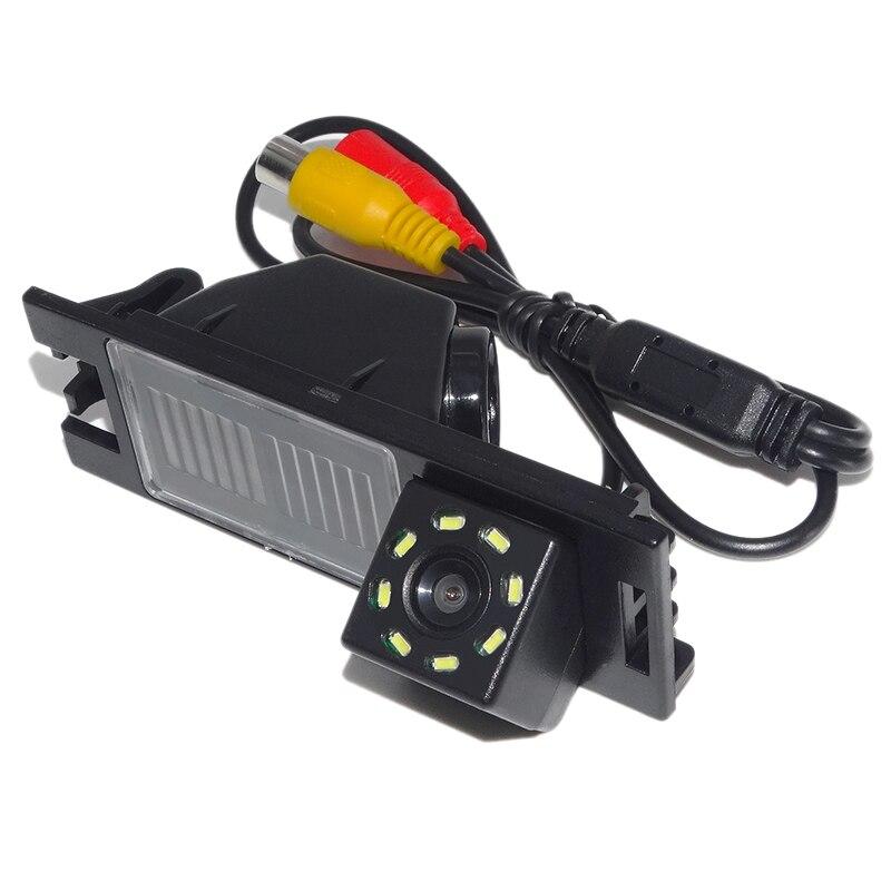 Câmera de visão traseira do carro invertendo estacionamento 8led à prova dwaterproof água câmera de visão noturna para hyundai novo tucson ix35 2006-2014