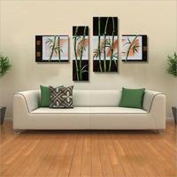 100% Handgemaltes Modernes Abstraktes Bambus Leinwand Wandkunst Ölgemälde auf Leinwand Umarmung Home Dekoration Einzigartiges Geschenk Artwork Bilder