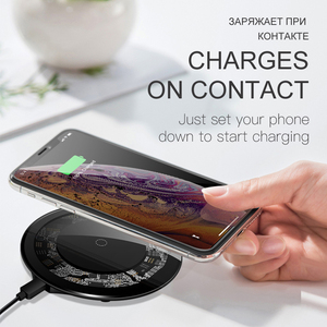 Image 2 - iONCT 15W Fast Wireless Charger for iPhone X XS 11pro Visible USB Qi Charging pad for Samsung S8 S9 Note 9 Phone wirless charger