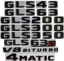 Flat Gloss Glossy Black Trunk Letters Emblem Emblems Badge for Mercedes Benz GLS63 GLS63s AMG GLS350 GLS400 GLS500 4MATIC 2017+