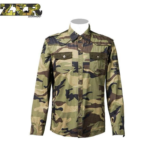 Oferta Camisas Táticos Camuflagem Ocasional Outono Dos