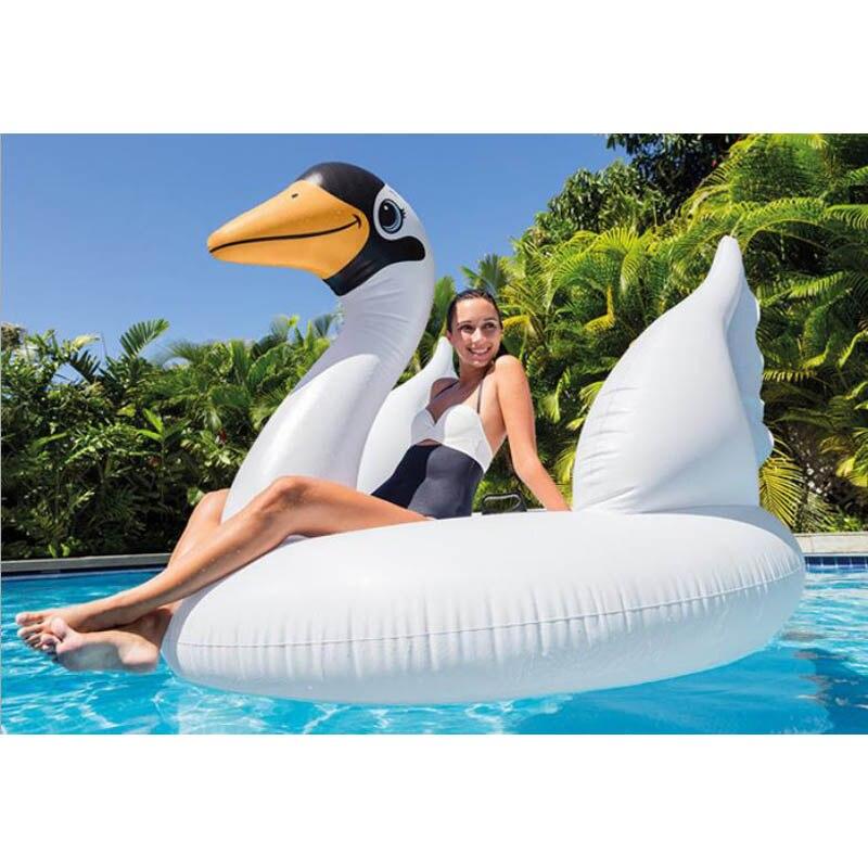 INTEX original authentique gonflable grand cygne animal mont jeu d'eau jouets pour enfants adultes flotador gigante materac do wody