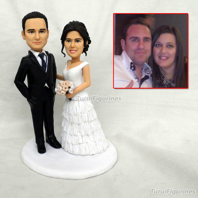 ooak Handmade Polymer Clay minature doll Personalized custom Travel Memorial wedding cake topper decorations decor party favor