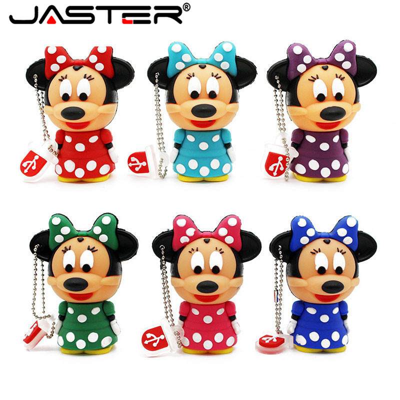JASTER Mouse Mickey And Minnie USB Flash Drive Pen Drive Animal Cartoon Pendrive 4GB/8GB/16GB/32GB Exquisite Pendrive Funny Usb