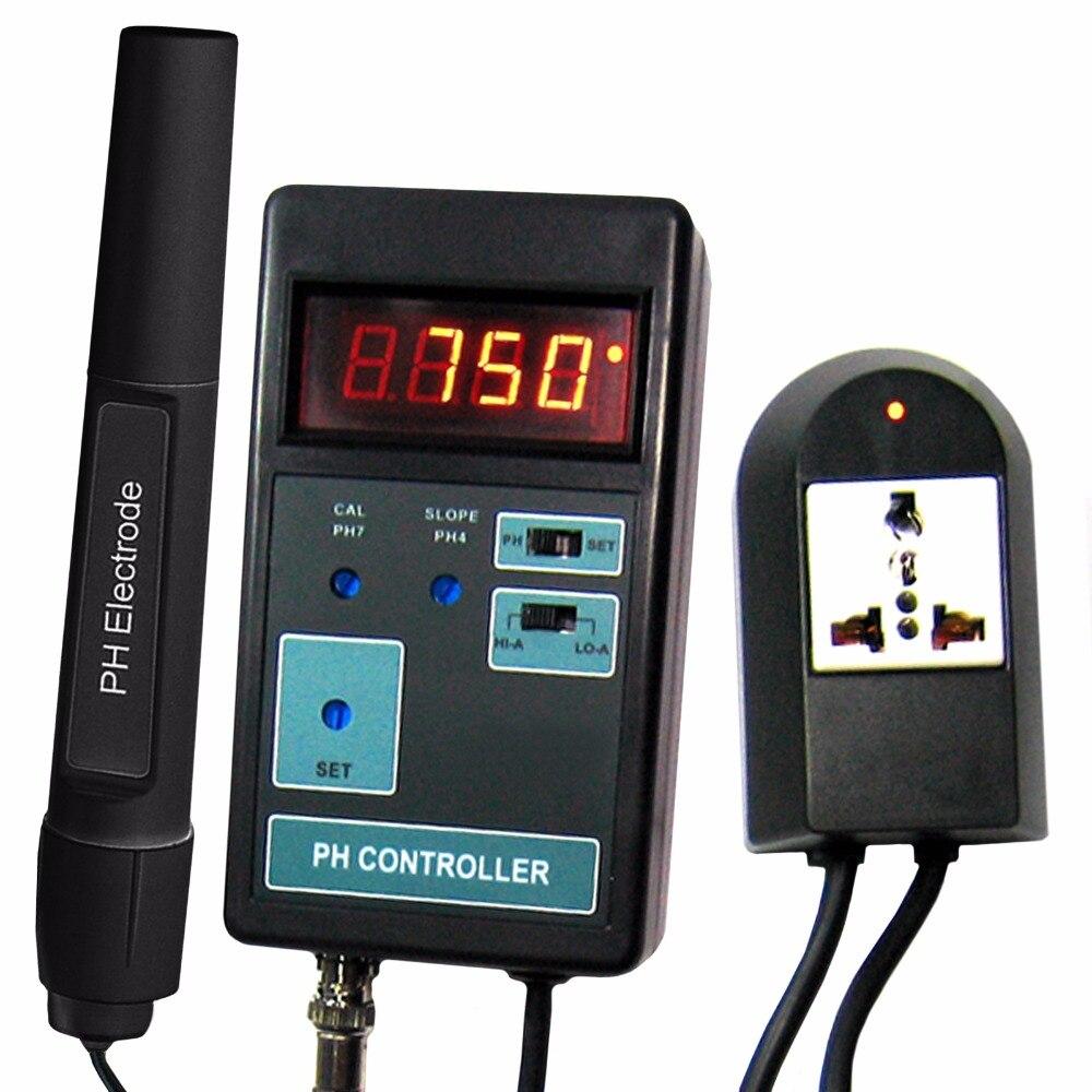 Pantalla LCD Digital pH CO2 controlador medidor acuario pecera 0,00 Range 14.00PH rango + enchufe conmutado 110 V/220 V Shahe Digital nivel transportador Inclinómetro de Nivel Magnético ángulo medidor de ángulo de buscador de nivel de ángulo Digital de