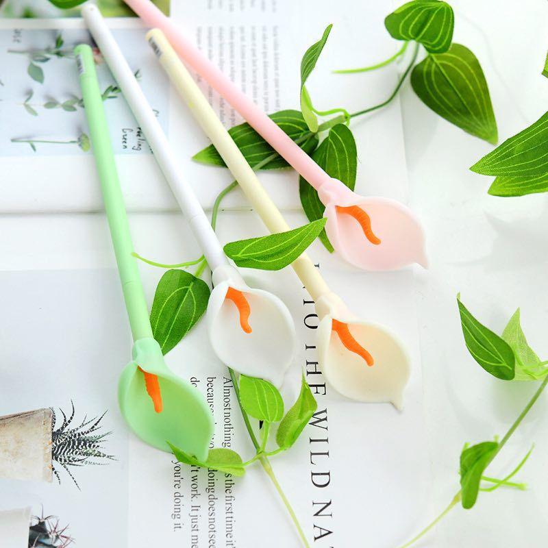 flor gel caneta 0.5mm agulha cheia preto
